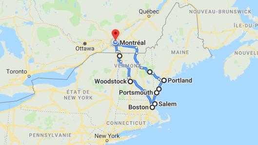 DE BOSTON À PORTLAND